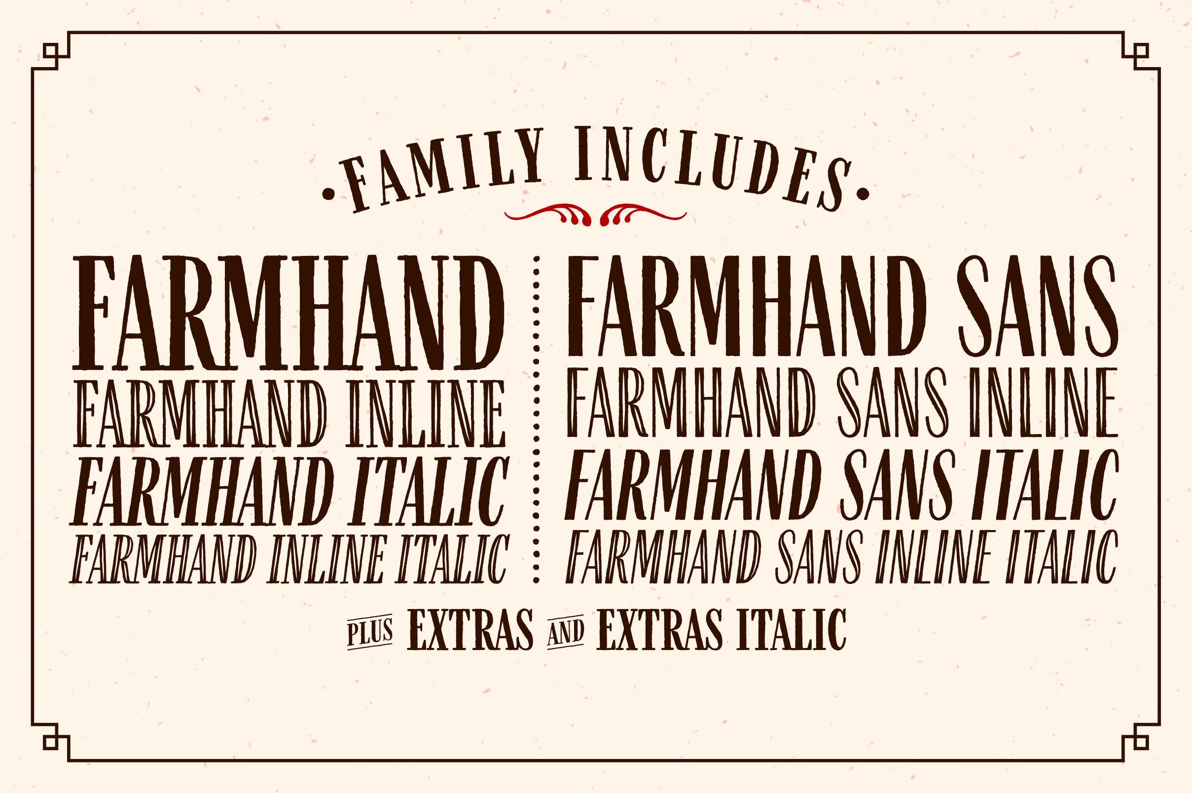 Farmhand Font Family example image 3