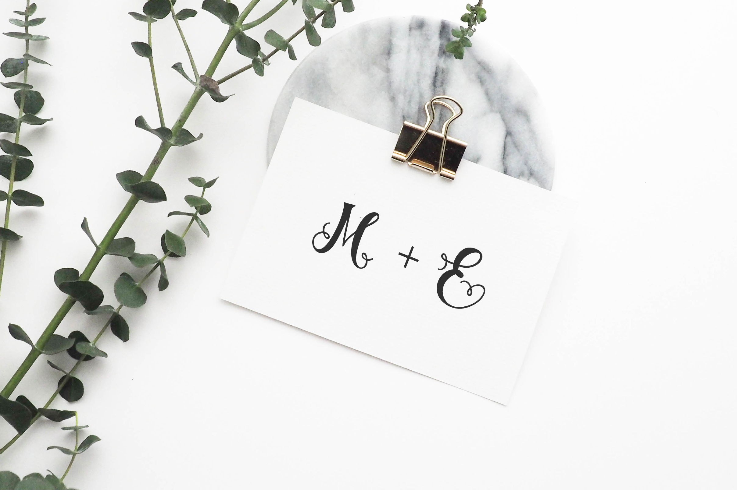 Styled Monograms - Hand lettered Initials example image 5