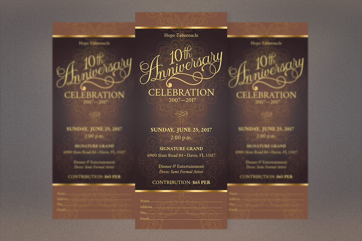 Church Anniversary Publisher Ticket Bundle example image 3