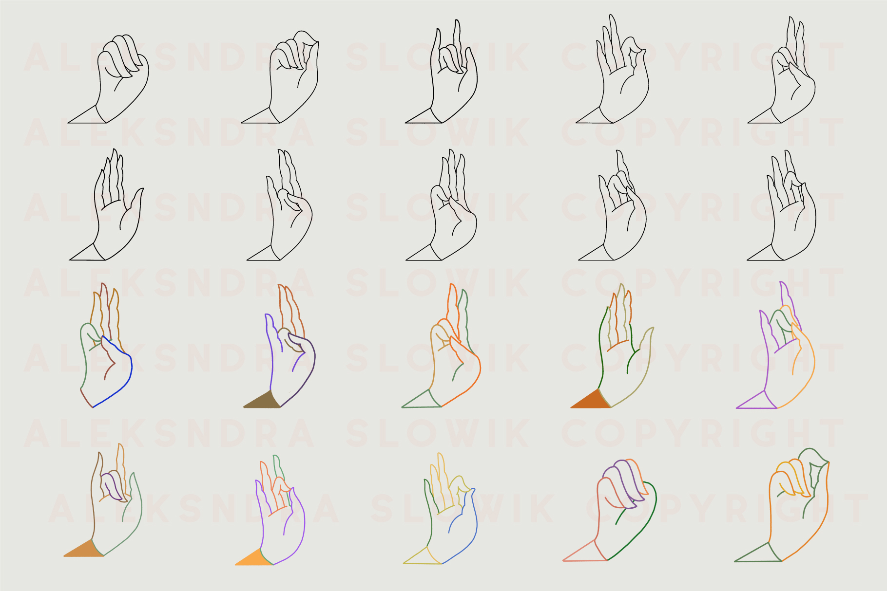 10 Mudras & Logo Pack. SVG/Ai/PNG example image 10