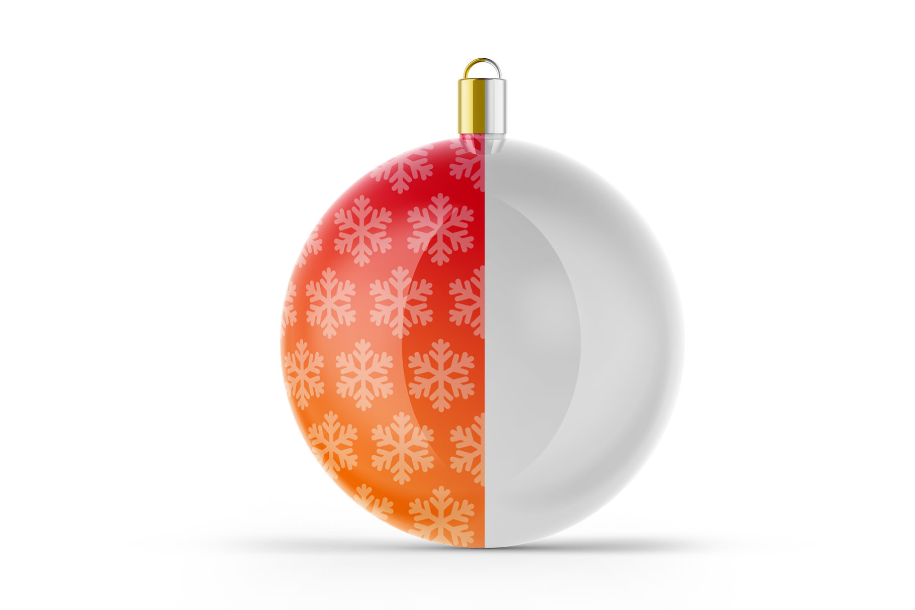 Glossy Christmas Ball Mockup example image 4