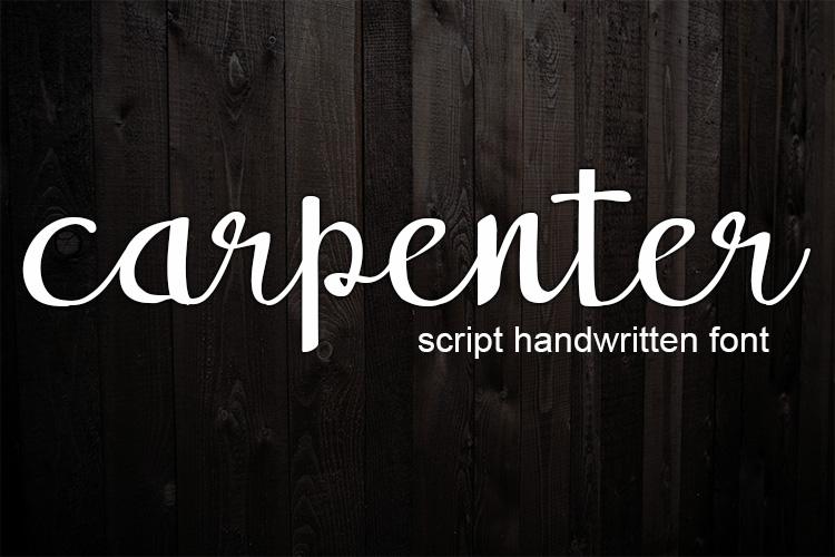 carpenter handwritten script font example image 1