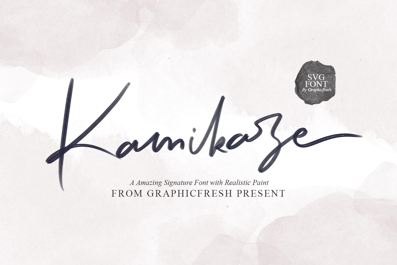 Kamikaze SVG Font example image 10