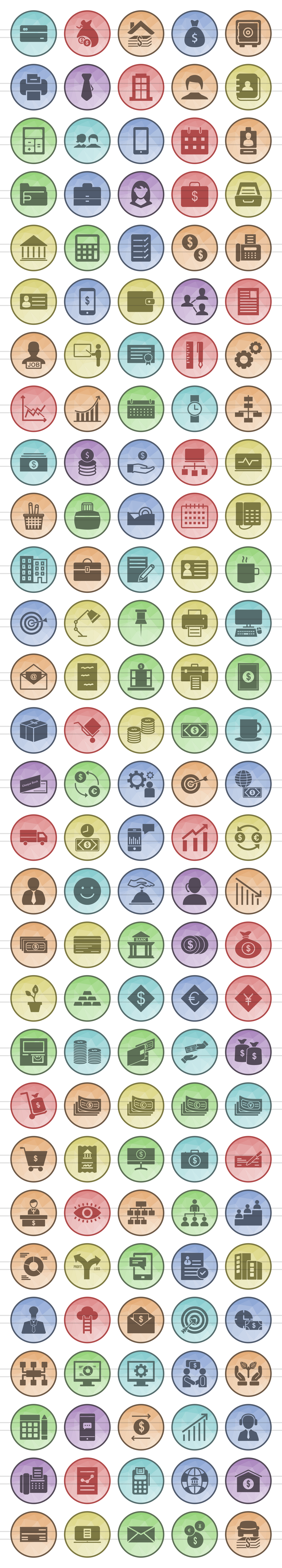 146 Business & Finance Filled Low Poly Icons example image 2
