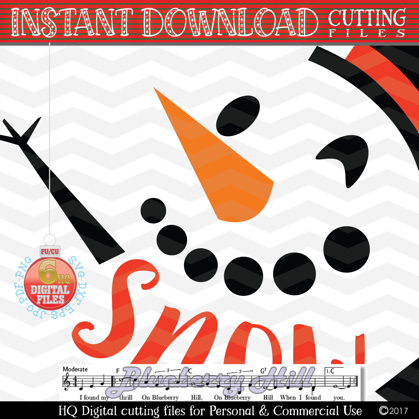 Snowman Svg -Snow Cute SVG - Christmas SVG - Snow SVG - Xmas example image 2