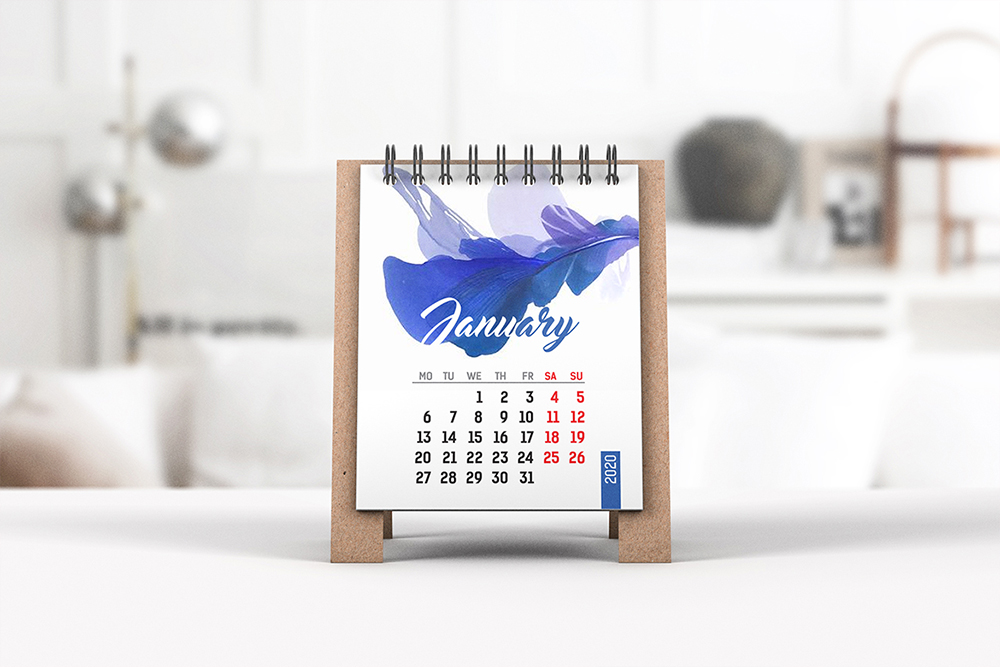 Mini Desk Calendar Mockup example image 2