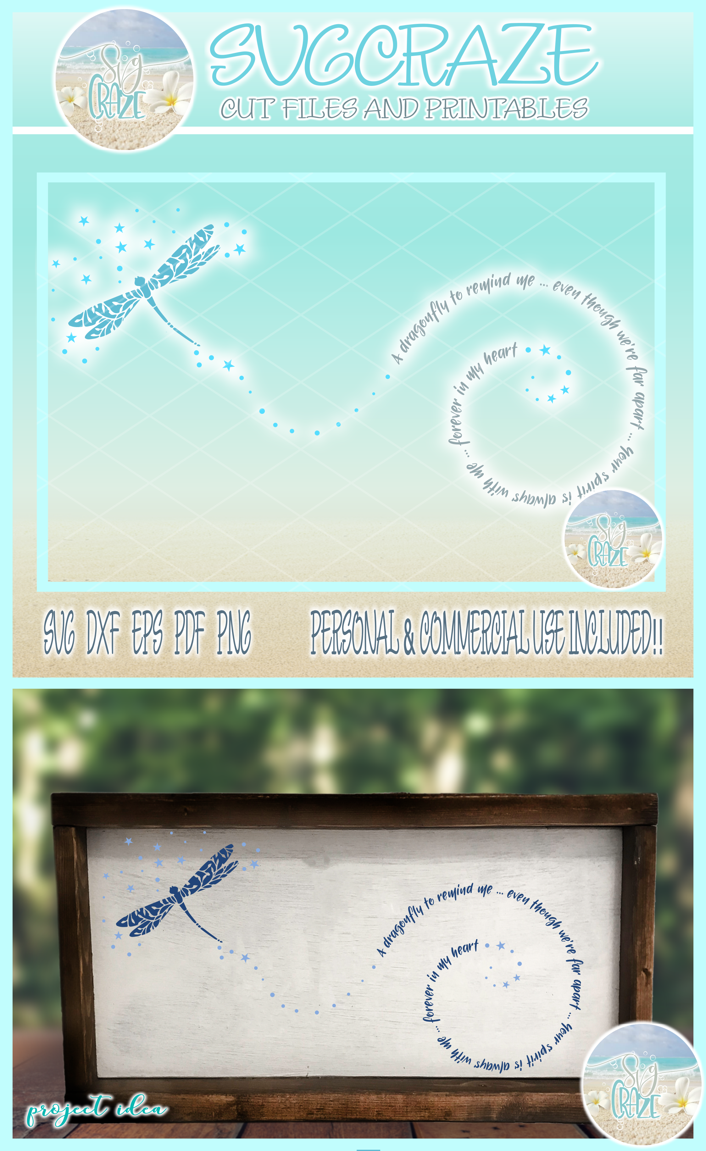 Dragonfly to Remind Me Mandala Zentangle SVG Dxf Eps Png example image 4