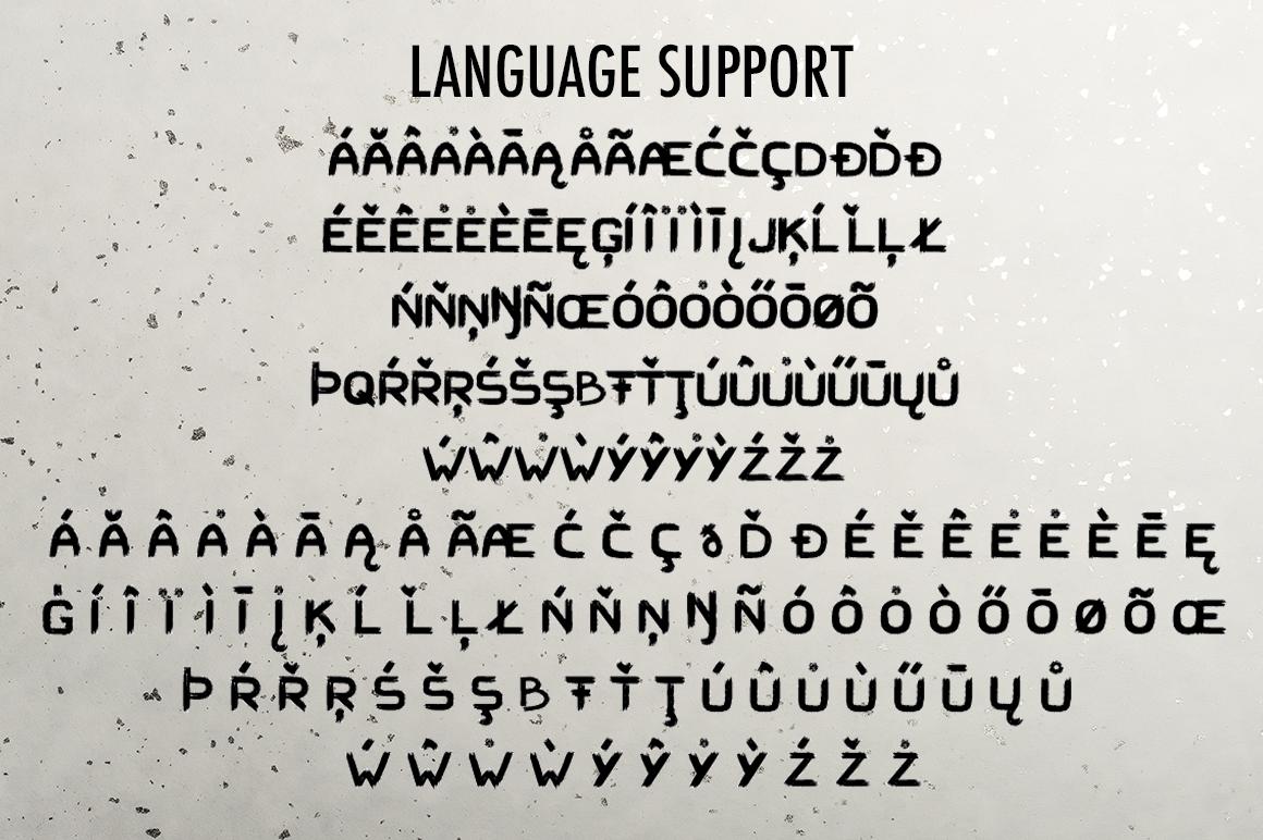 Hard Brush - bold uppercase font example image 5
