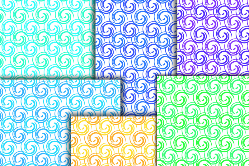 Curls digital paper. Abstract paper. Whirls seamless pattern example image 3
