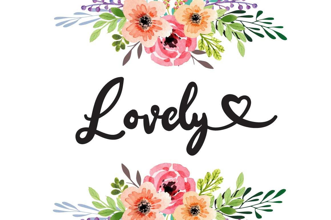 Ana Bryan| Cute heart Script Font example image 4