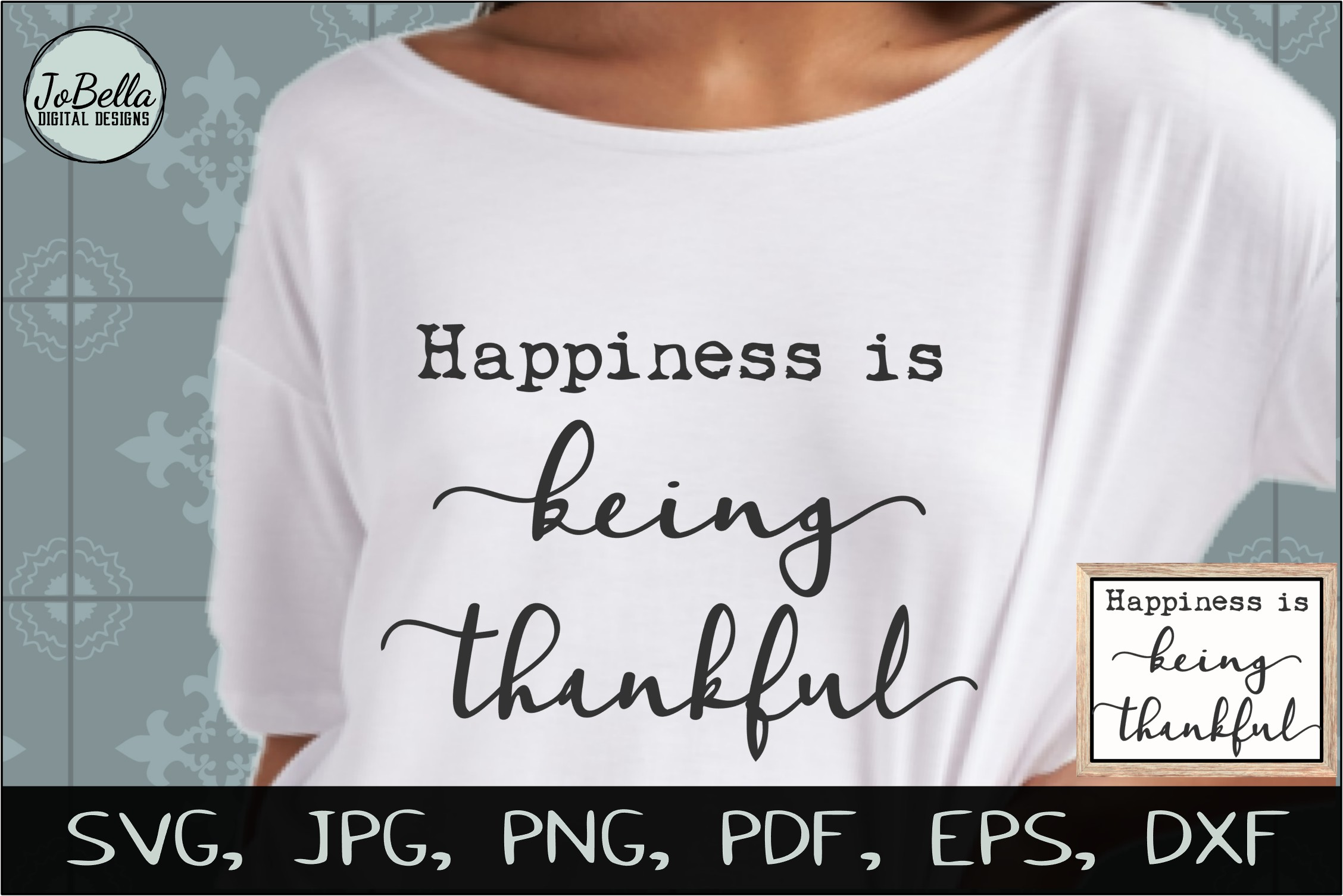 Being Thankful Thanksgiving SVG, Sublimation PNG & Printable example image 3