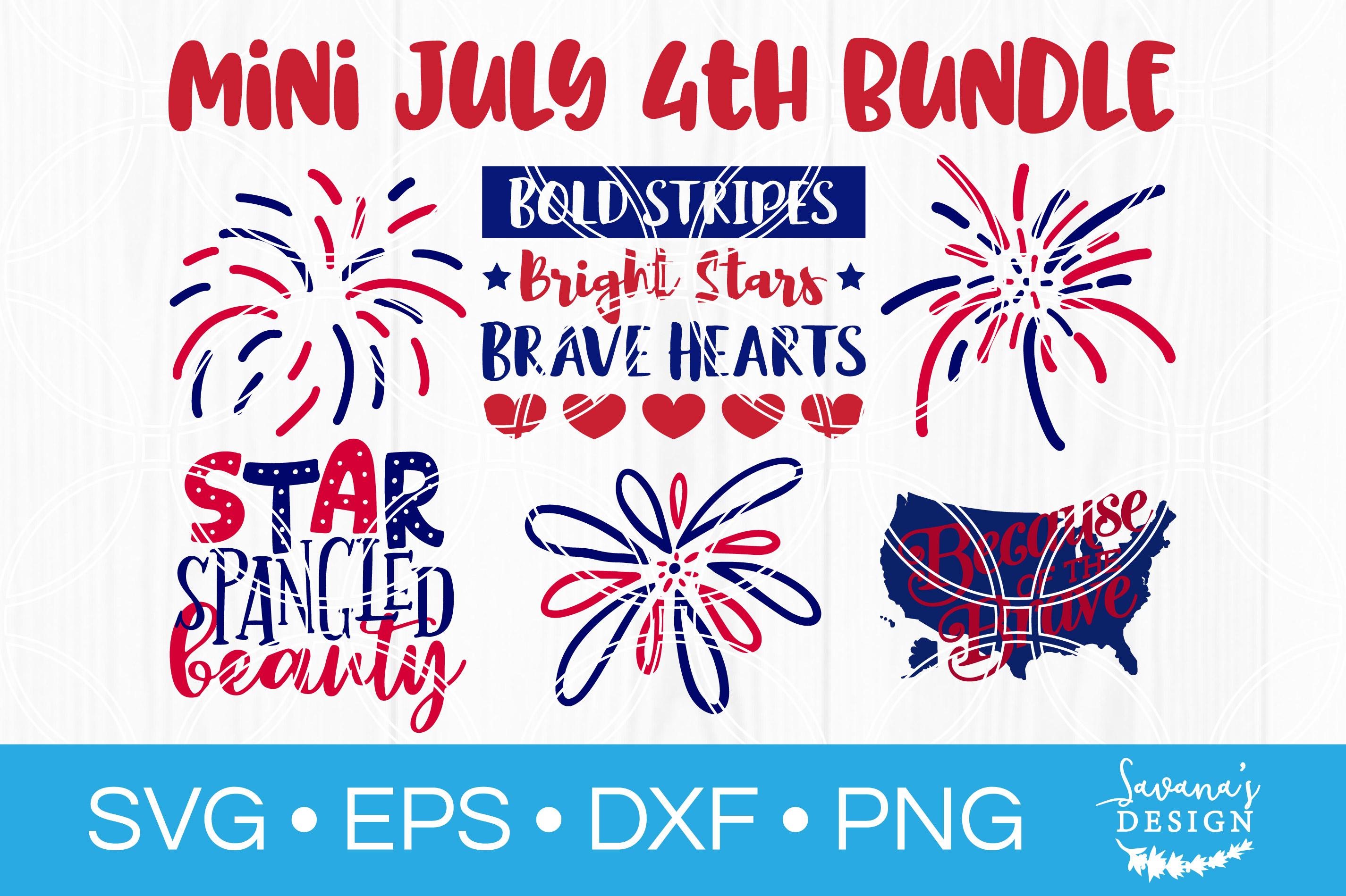 4th of July SVG Bundle Fourth of July Bundle Firework SVG example image 1