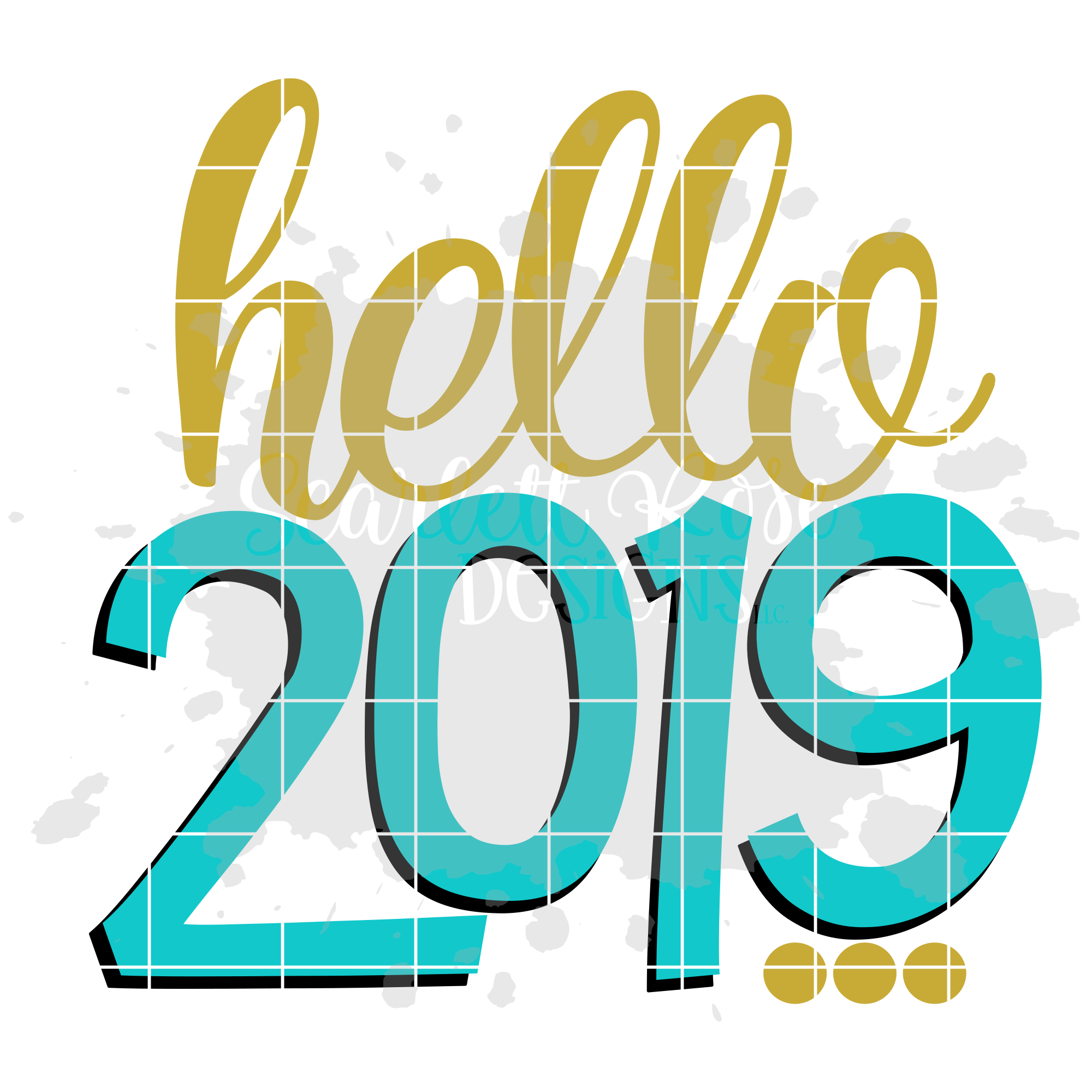Hello 2019 - New Year's SVG example image 2