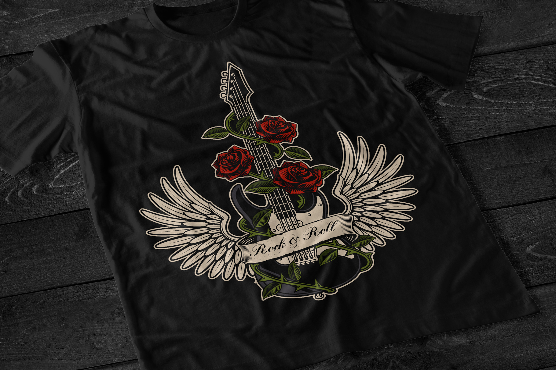 Guitar With Roses example image 2