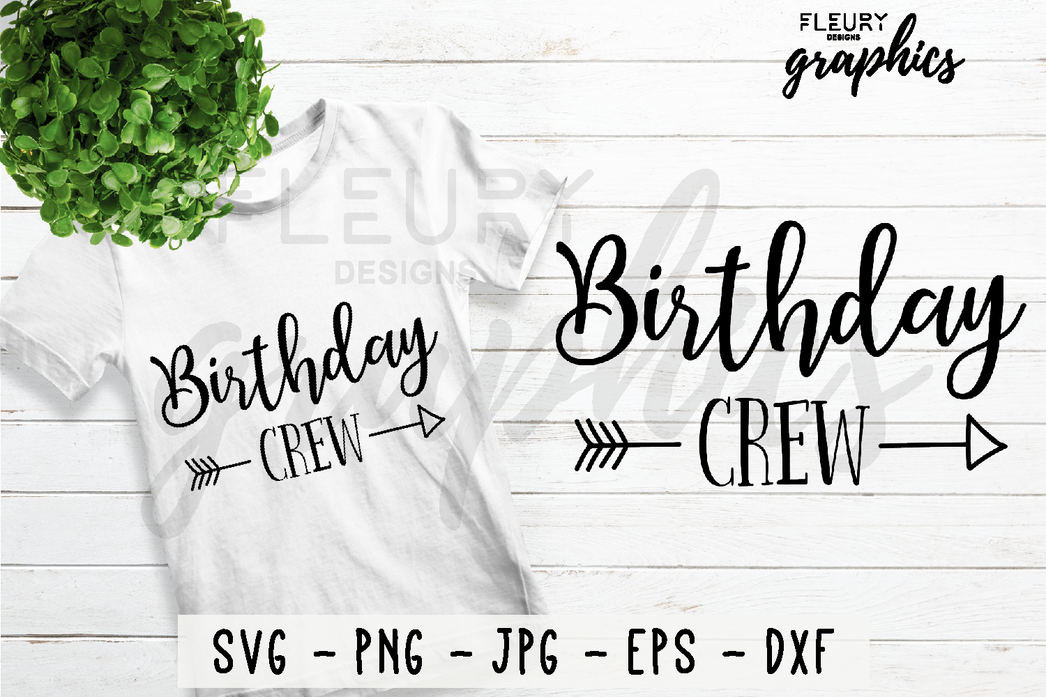 Birthday Crew SVG Cut file PNG EPS DXF JPG - Crafters SVG's example image 1
