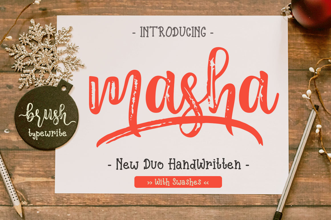 Masha // Duo Handlettered Fonts example image 1