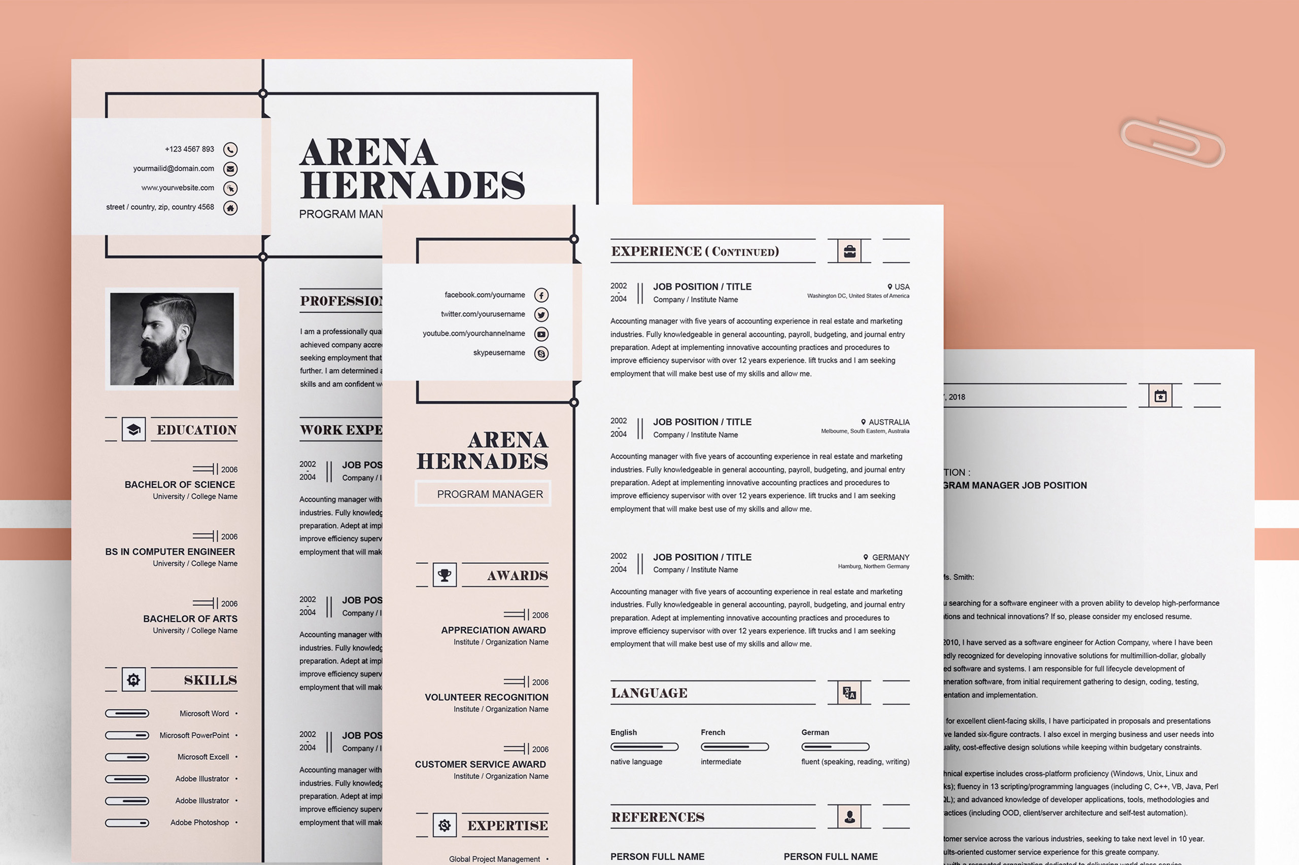 Modern Resume Template example image 4
