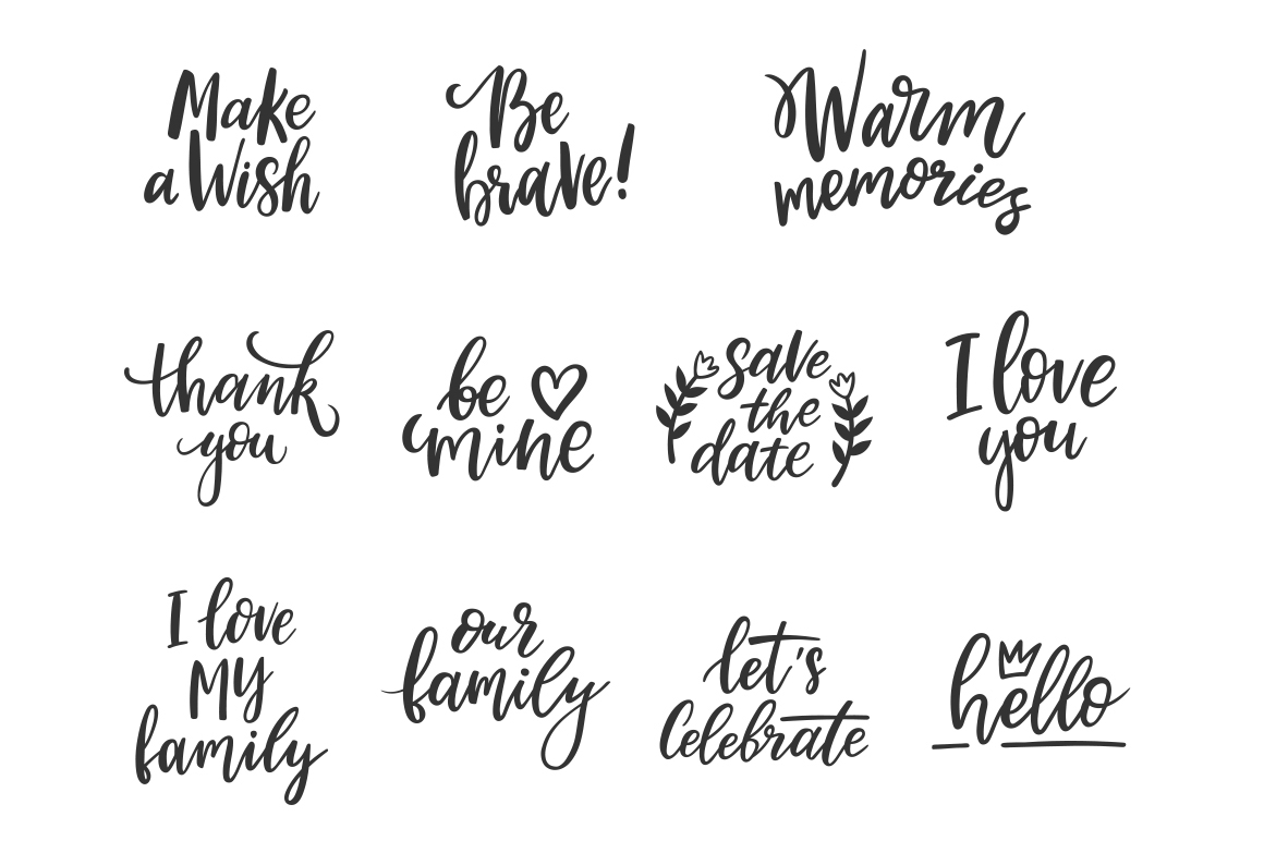Family Lettering Pack example image 8
