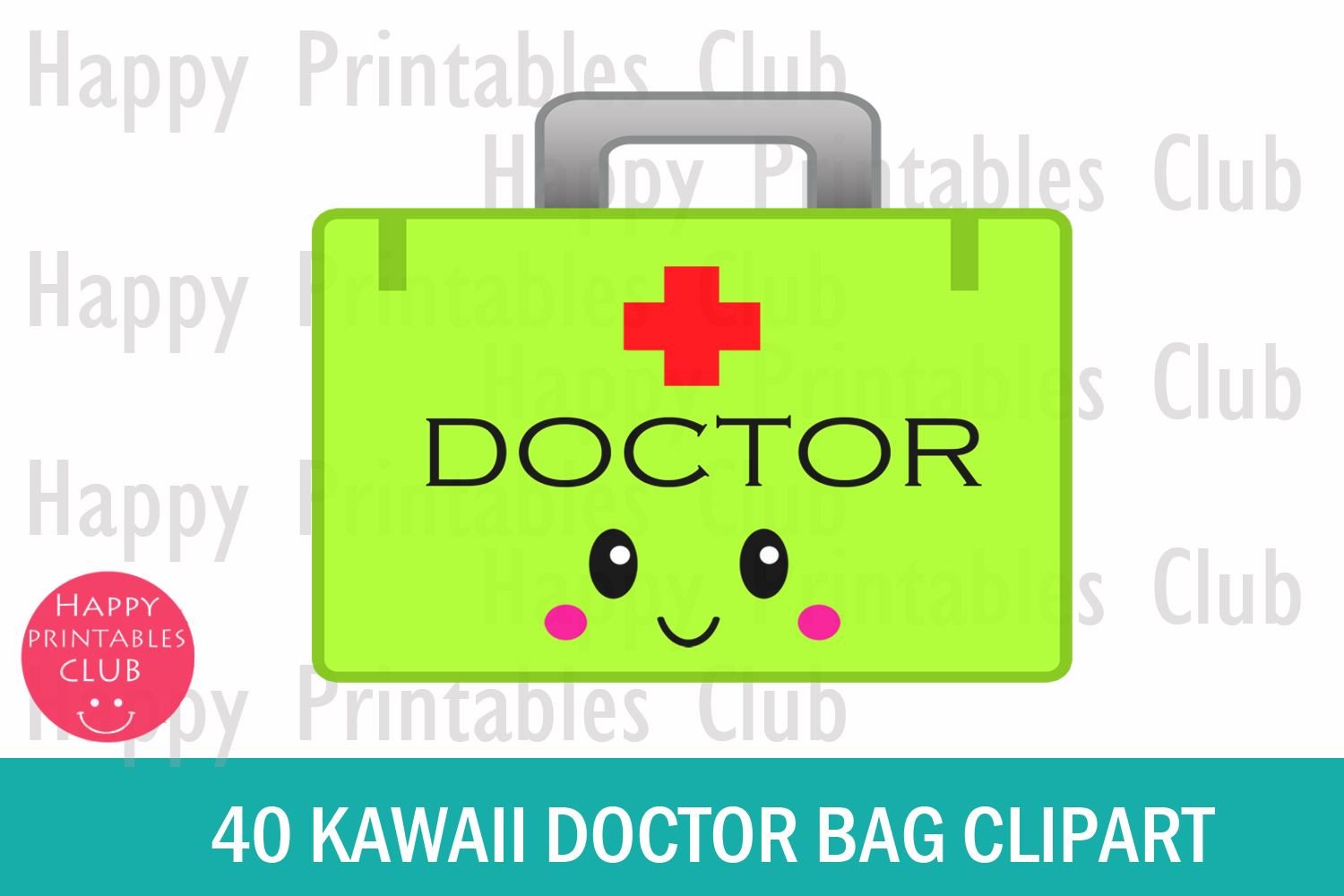 40 Kawaii Doctor Bag Clipart- Doctor Bag Transparent Images example image 2