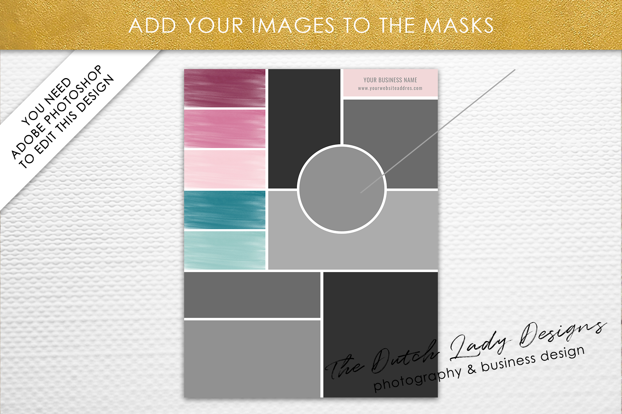 Mood Vision Board Template For Adobe Photoshop Layered Psd