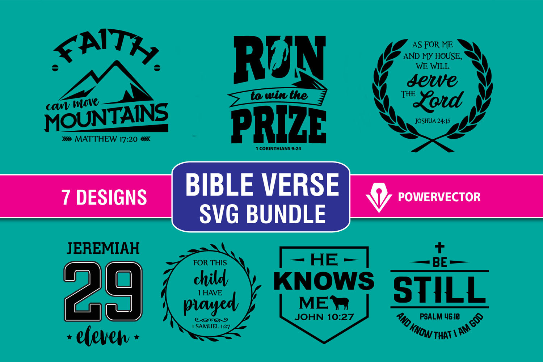 Bible Verse Svg Design Bundle. Bible Verse Vinyl Cut Files. Svg Sticker, Vinyl Cutting File. Christian Design Eps, Dxf, Svg Cut Files example image 1