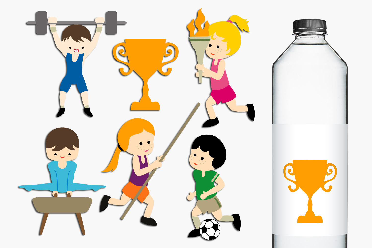 Summer Sport Competition Clip Art Illustrations example image 1