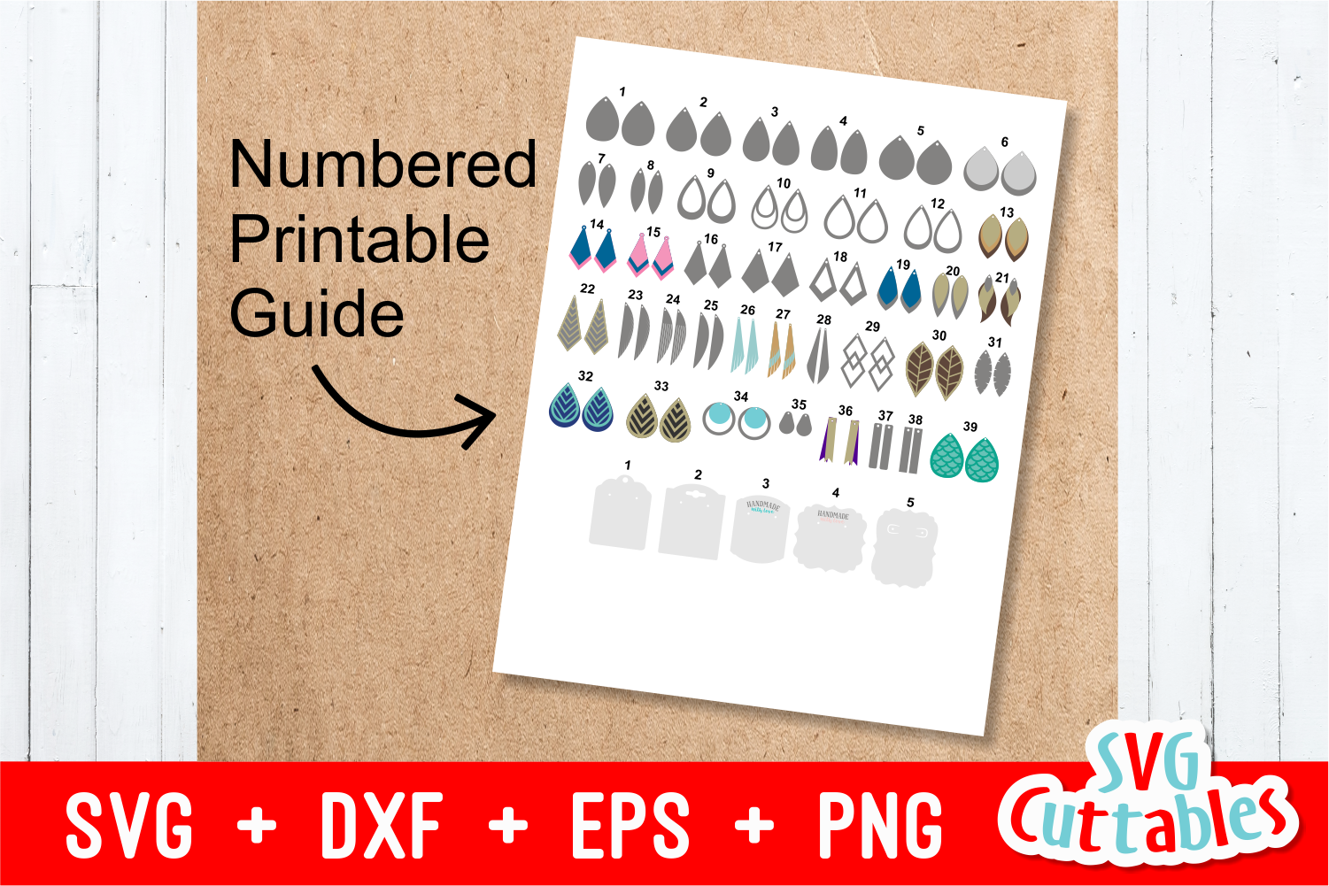 Earring Bundle | SVG Cut Files example image 7