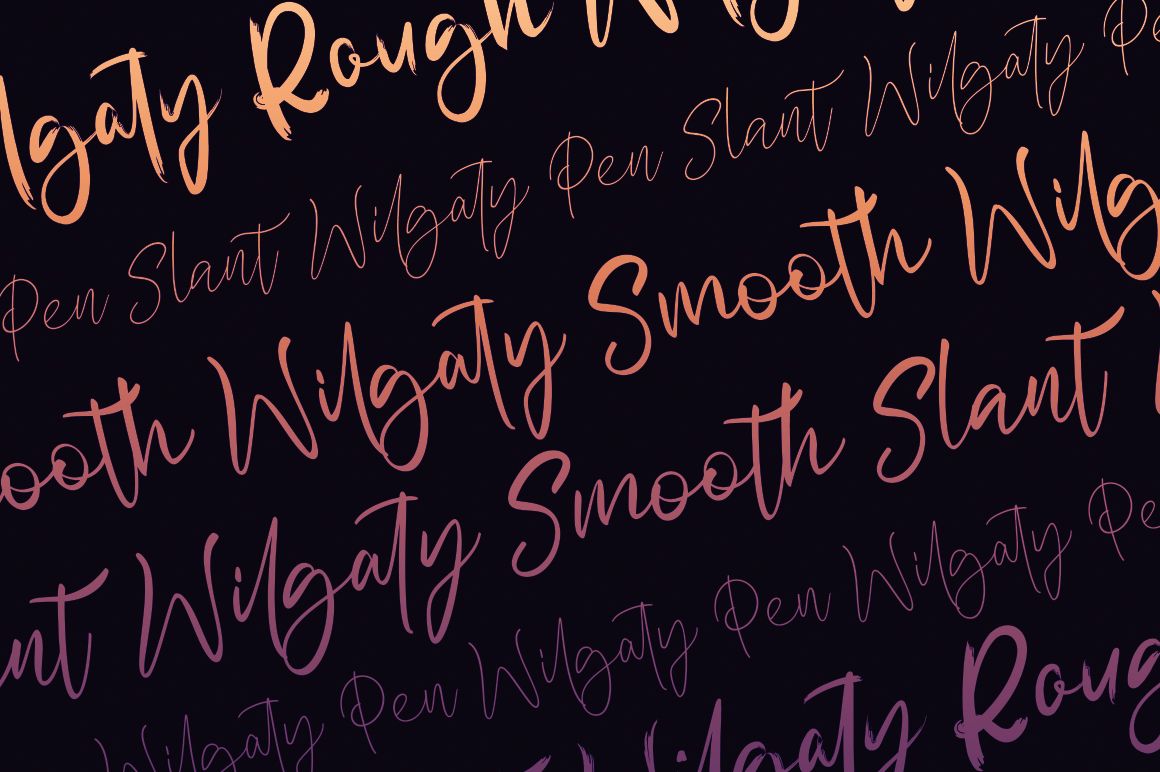 Wilgaty - 3 Stroke Edition (6 Fonts) example image 4