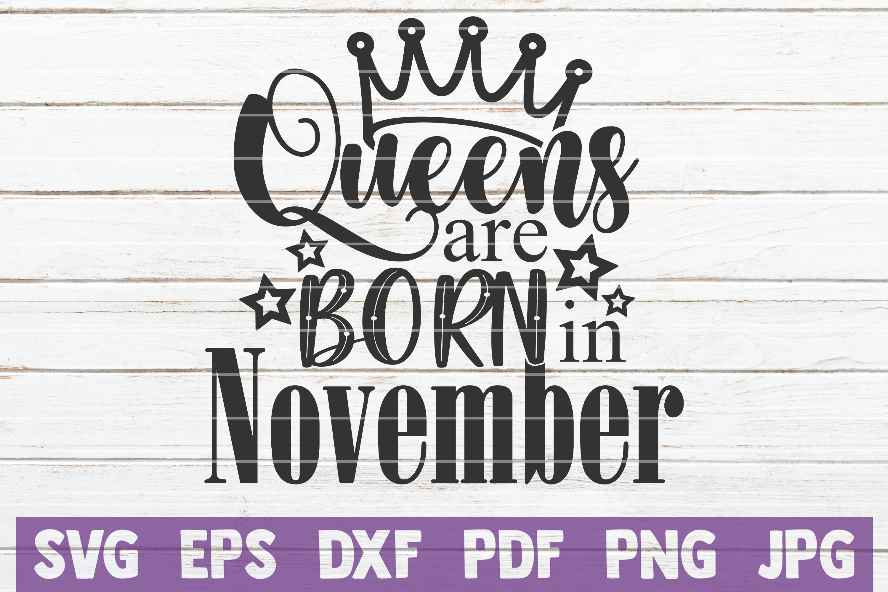 Queens Are Born In ... SVG Bundle | Birthday girl Cut Files example image 11