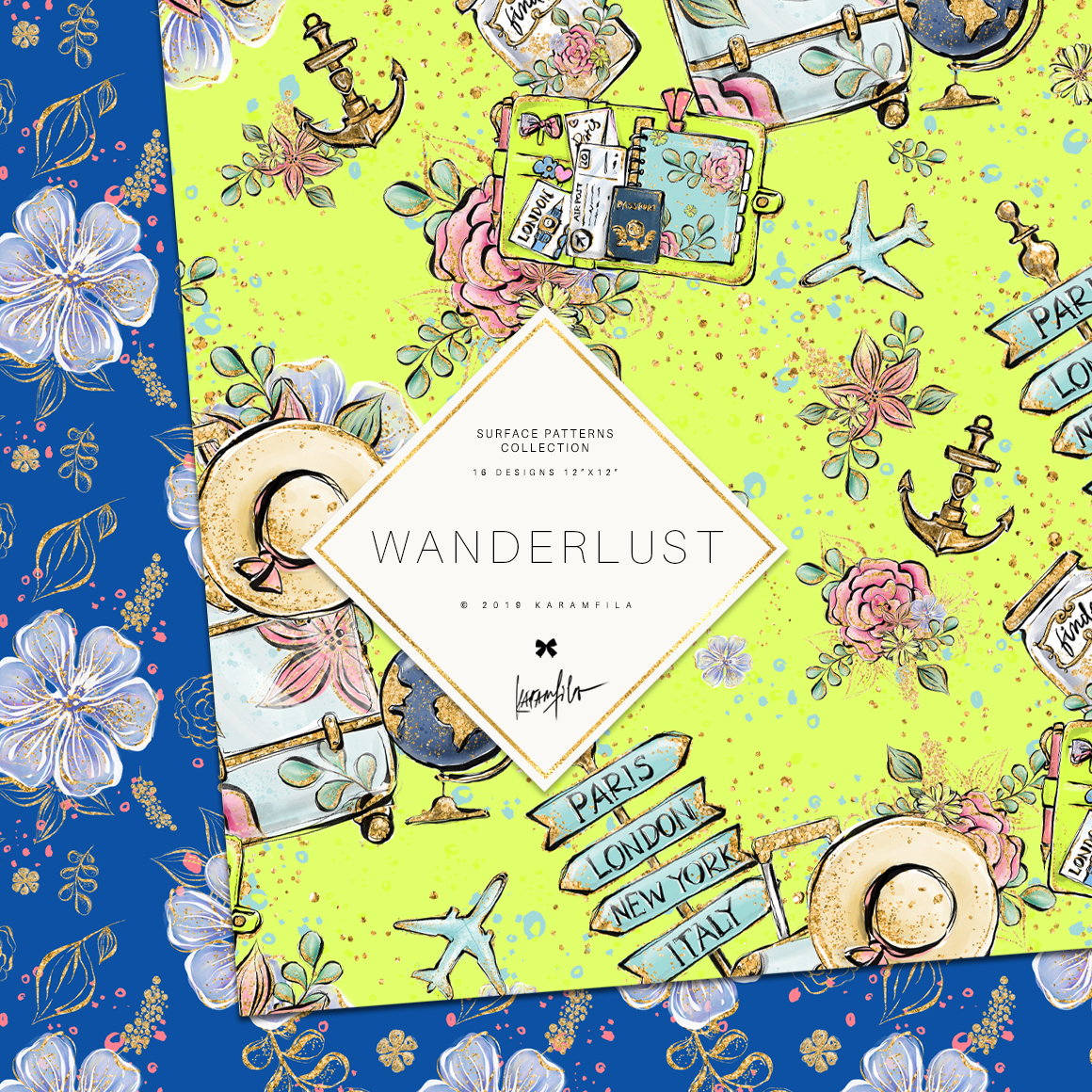 Wanderlust Patterns example image 7
