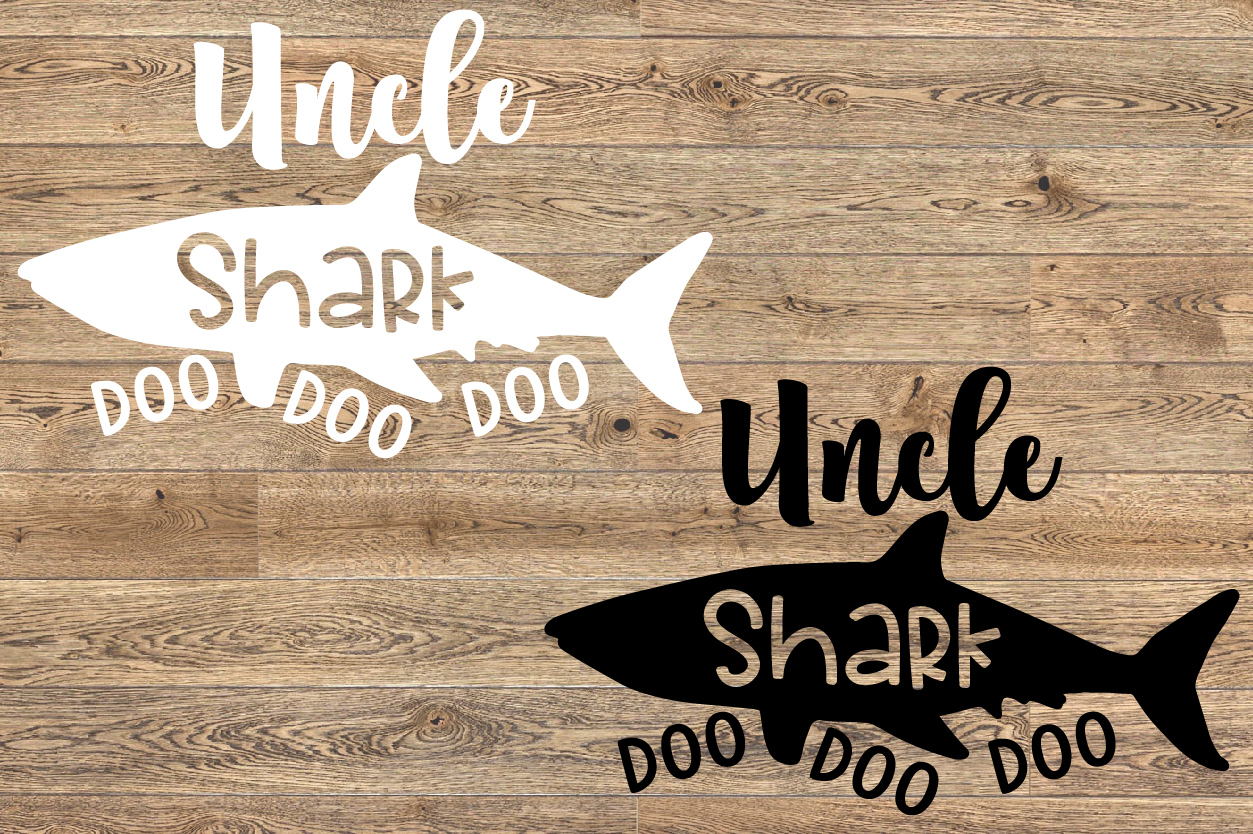 Uncle Shark SVG Doo Doo Doo Family Birthday Sea World 1310S example image 2