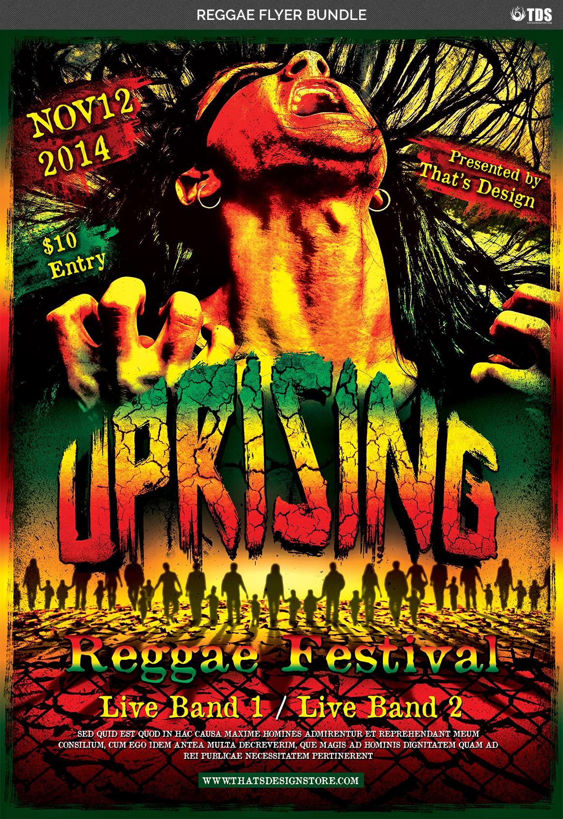 Reggae Flyer Bundle example image 5