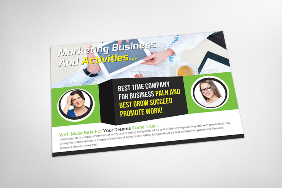 Marketing Business Postcard Template example image 3