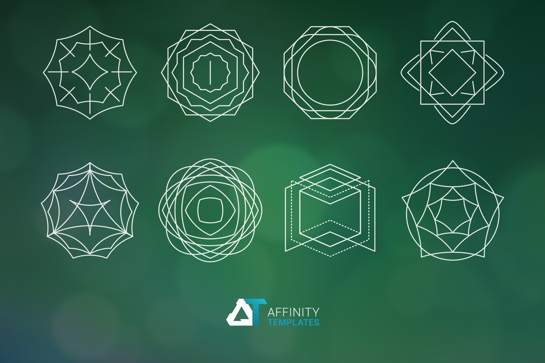 Sacred Geometry Vector Shapes Set example image 4