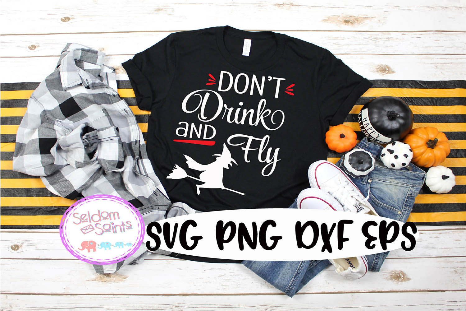 Don't Drink and Fly SVG PNG DXF EPS Cricut Cut File example image 1