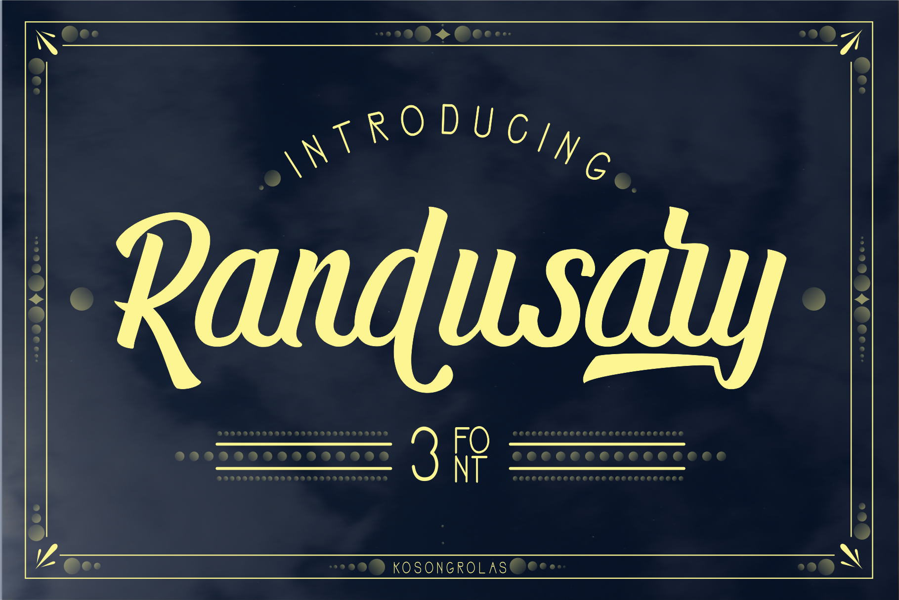 Randusary 3 Font example image 1