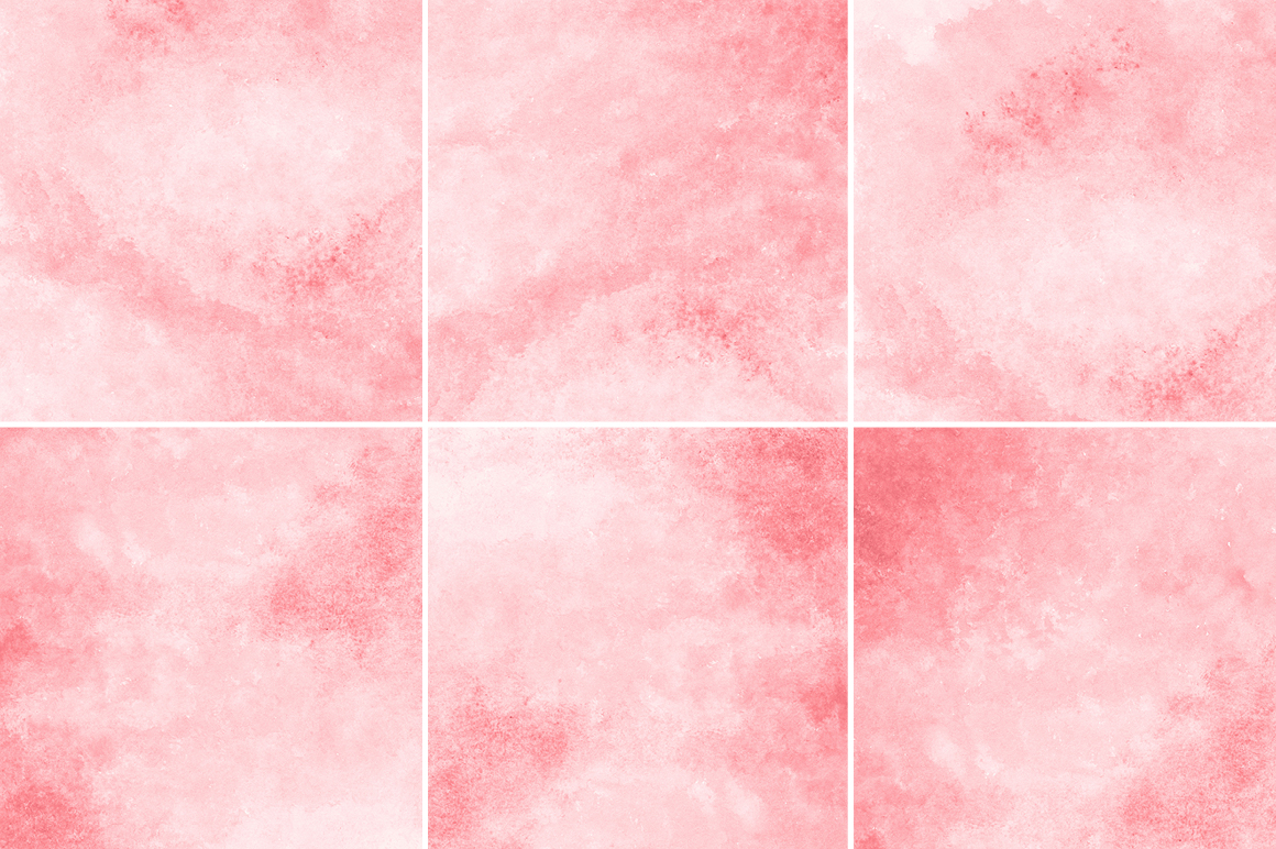 Coral Red Watercolor Texture Backgrounds example image 3