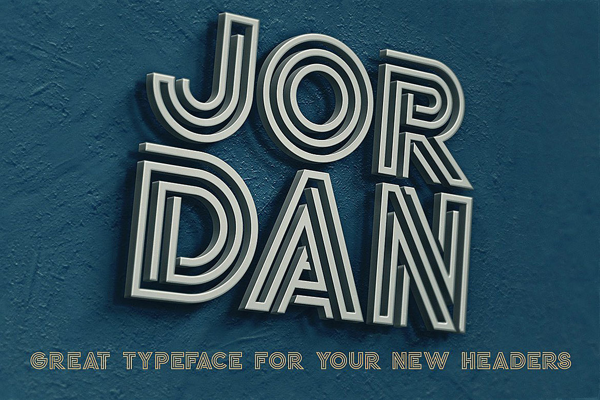 Jordan - Display Font example image 4