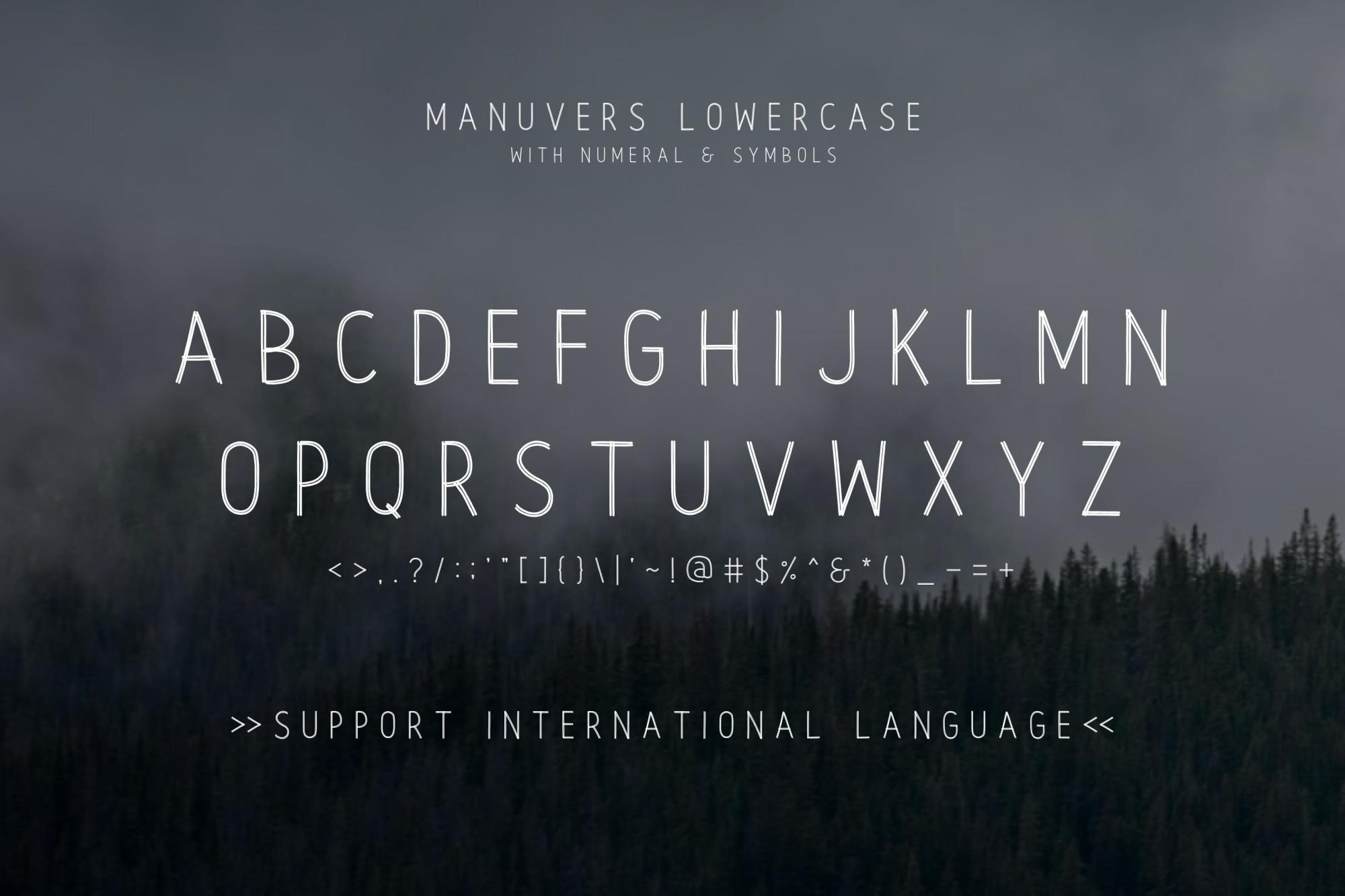 Manuvers - Handmade Sans Font - example image 5