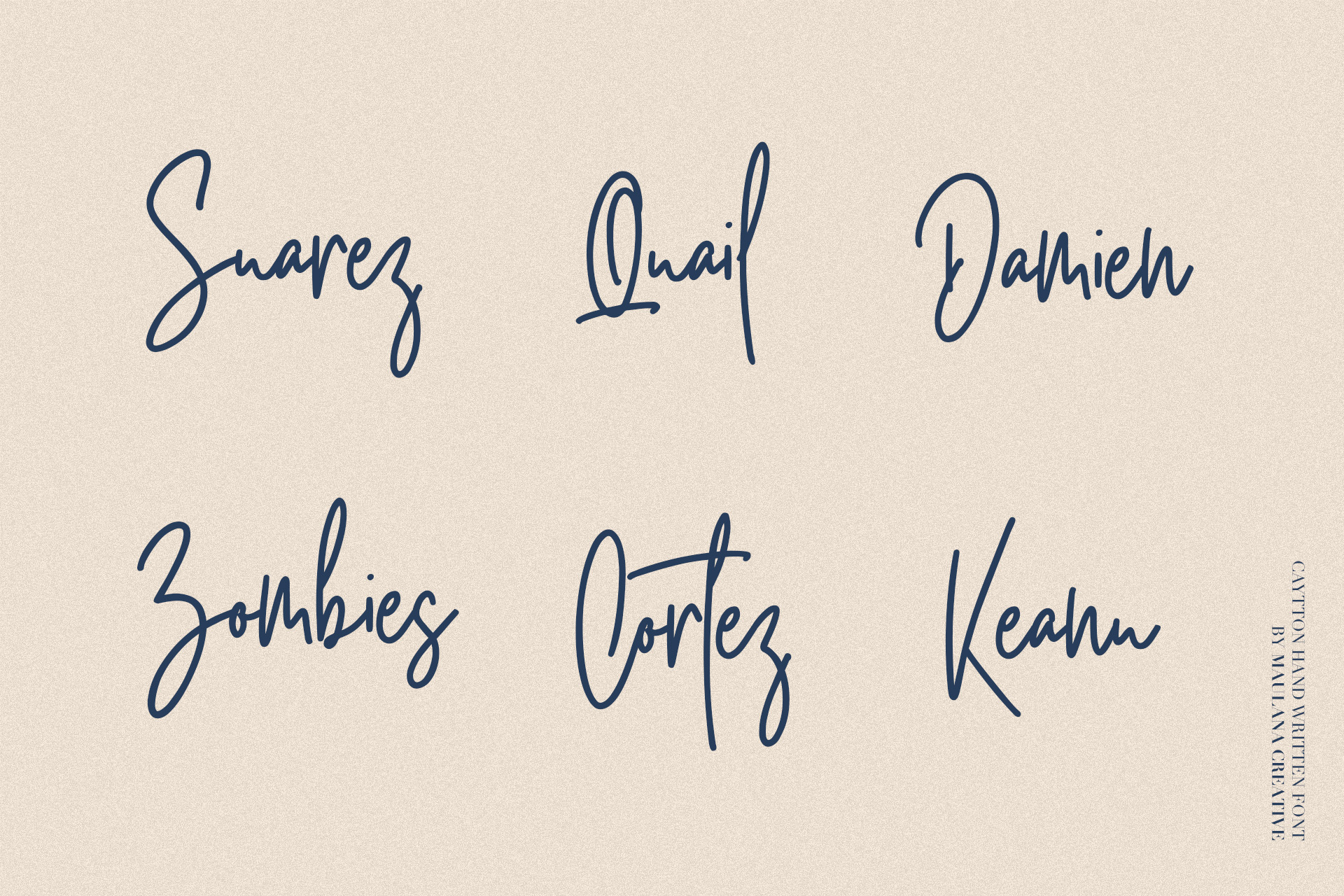 Cayttons Signature Font example image 9