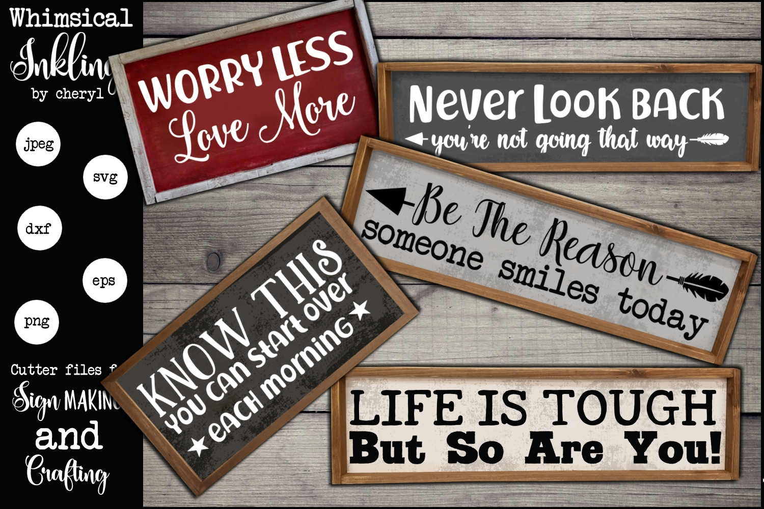 Life Is Tough Motivational SVG Set example image 1