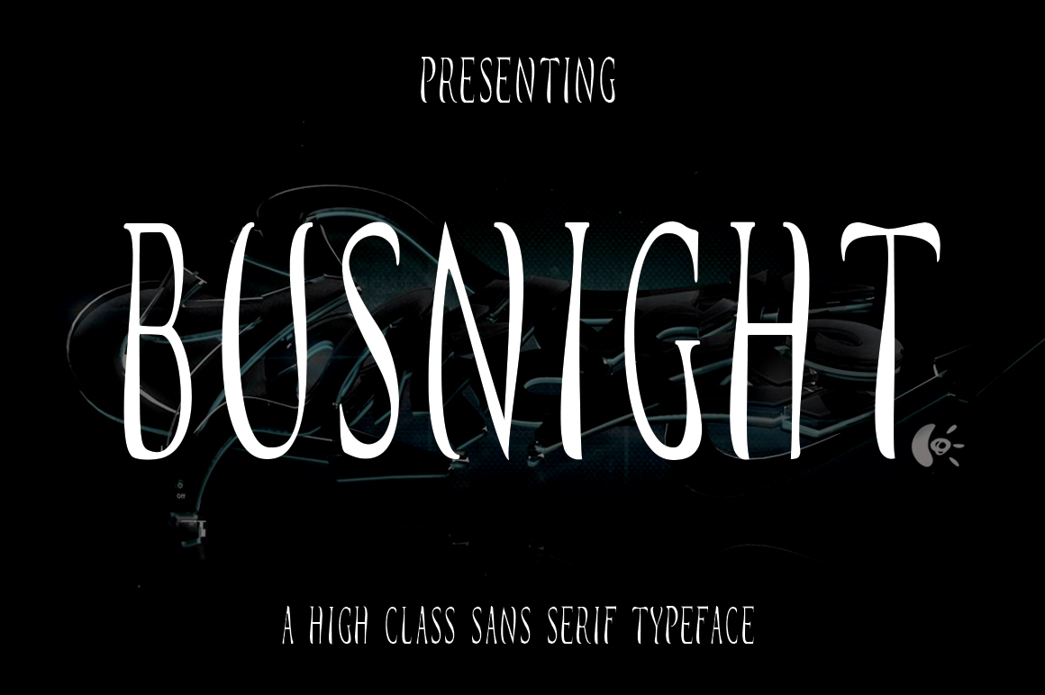 Busnight Font Duo example image 11