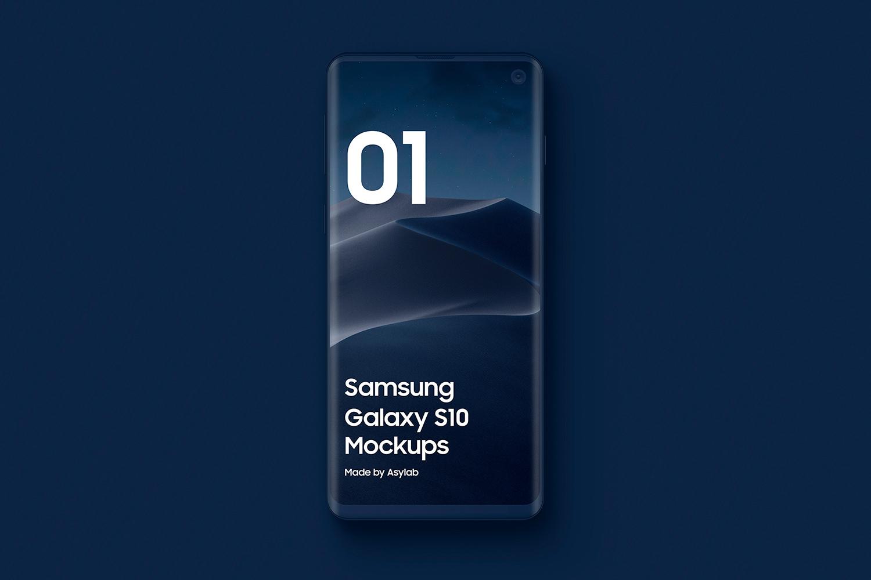 Samsung S10 - 21 Clay Mockups - 5K - PSD example image 9
