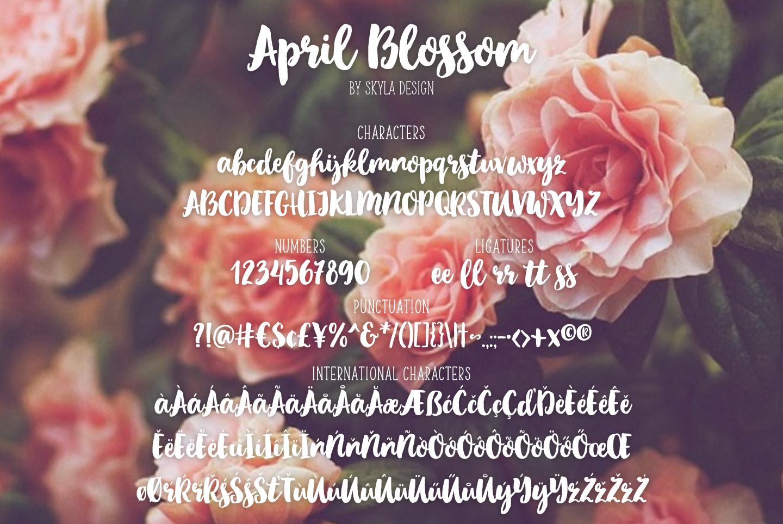Bold script brush font, April blossom example image 7