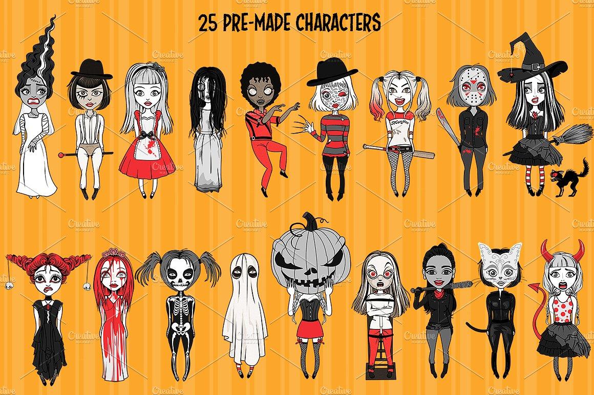 Halloween Girls Character Creator example image 3