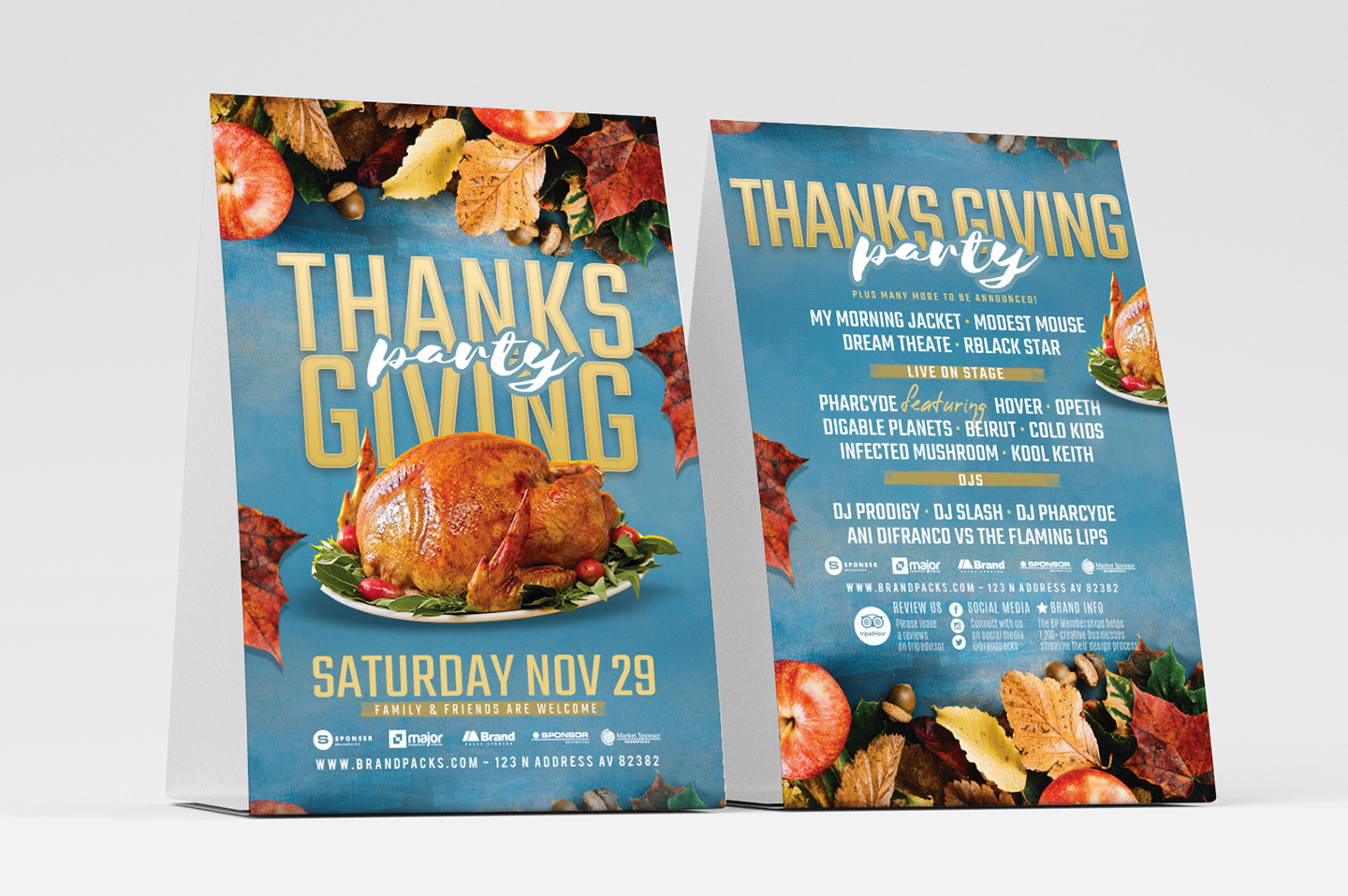 Thanksgiving Flyer Template example image 2