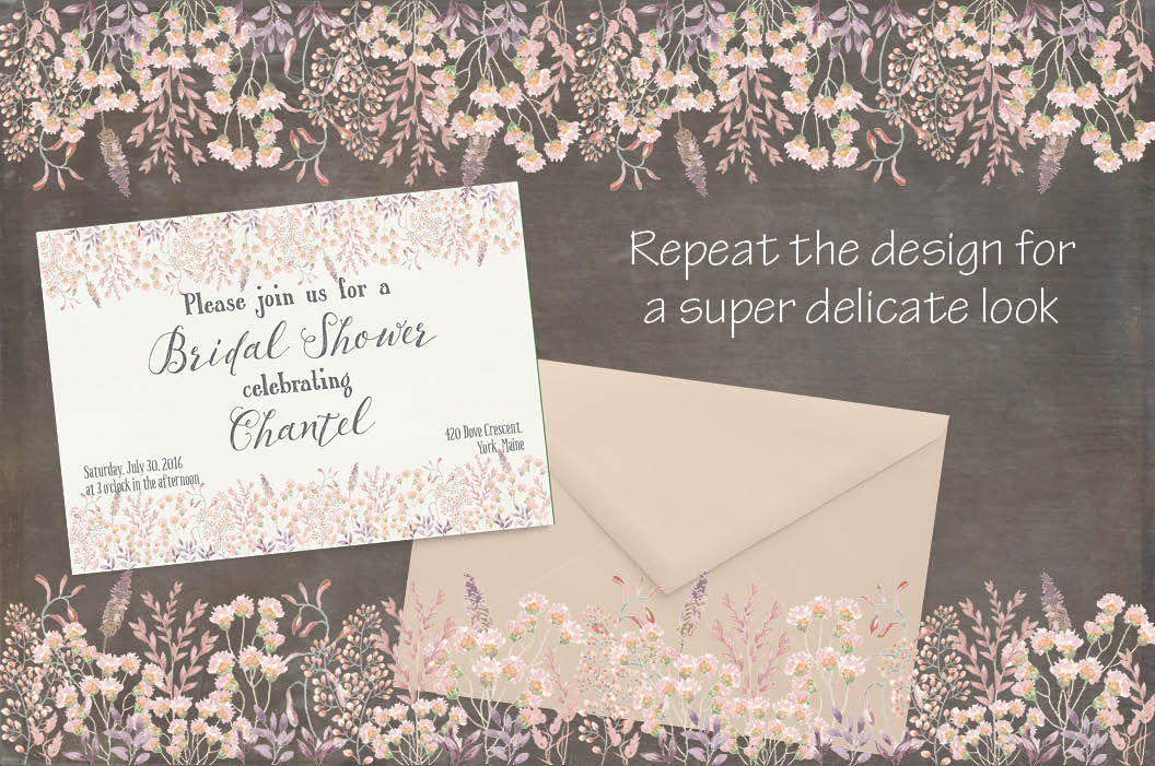 Watercolor border in peachy blush tones example image 4