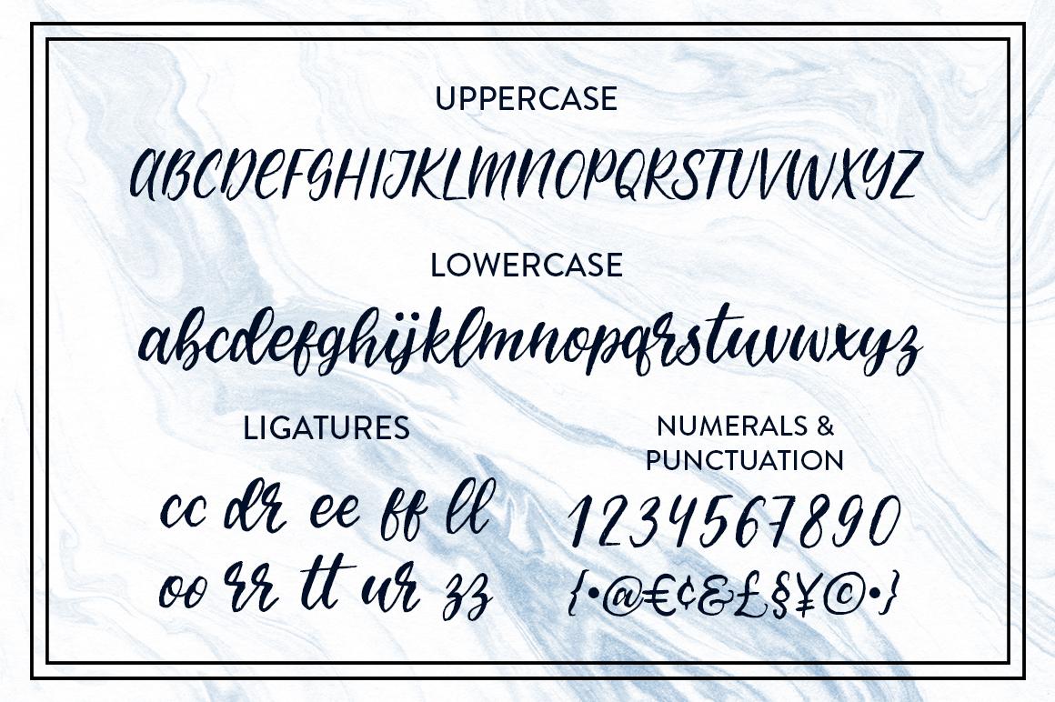 Molokini Brush Script example image 2