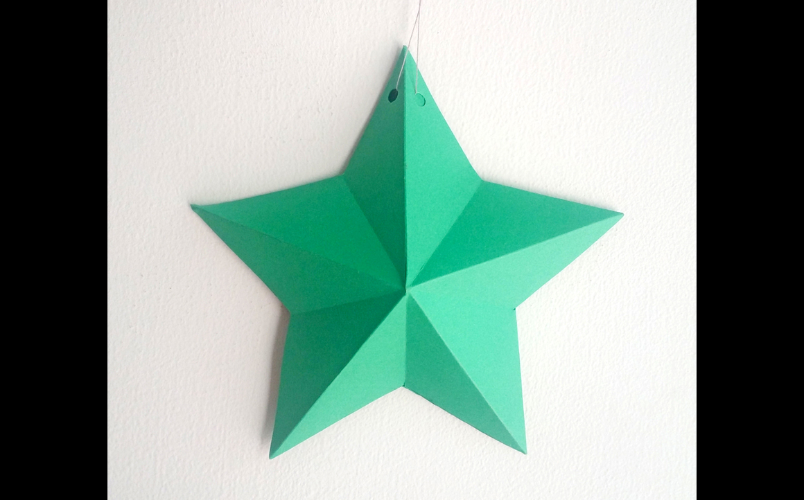 DIY Christmas Bunting/Flags - 3d papercraft example image 3