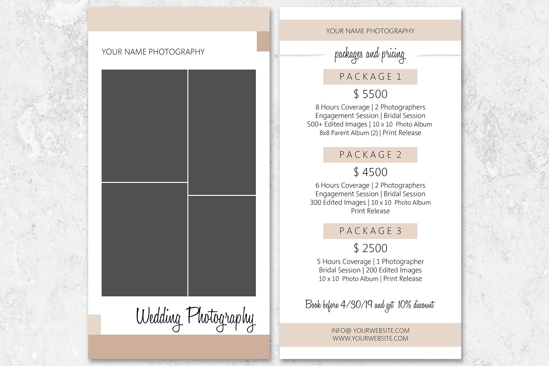 Wedding Photography Rack Card Template example image 2